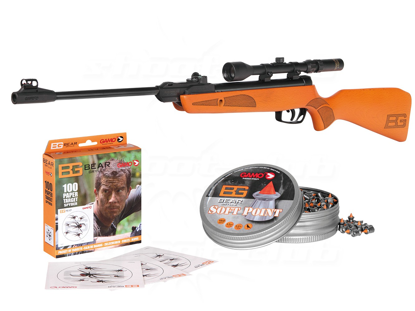 GAMO YOUNG EXPLORER BEAR GRYLLS légpuska szett 4,5mm