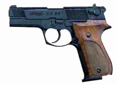 Walther CO2 Pistole CP88 mit Holzgriff