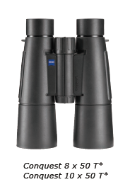Zeiss 10x50 T* CONQUEST Távcső